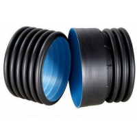 Quality 1.6Mpa Black Double Wall PE Pipe Fittings HDPE Light Weight for sale
