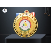 Round Color Painting Zinc Alloy Star Medal 76.2*3MM for sale
