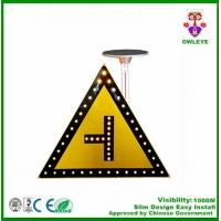 China Factory supply Triiangle Solar Powered LED Traffic sign crosswalk sign traffic light road sign on sale