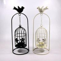 China New PRESSED hanging bird cage Tea Light Votive Candle Holder Hanging Lantern on sale