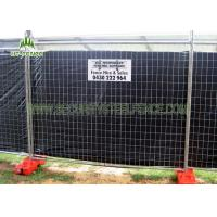 Quality 4ft Height Orange Temporary Construction Fence HighStrength With Metal Feet for sale