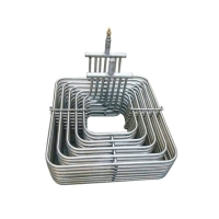Quality Heat Transfer Pure Titanium Coaxial Heat Exchanger Condenser Coil for sale