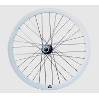 China White Alloy Flip Flop Fixed Gear Bicycle Wheel Set With Ball Bearing Hubs on sale