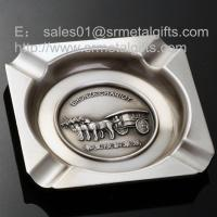 China 6 inch square metal cigar ashtrays for business advertising giveaway gift, on sale