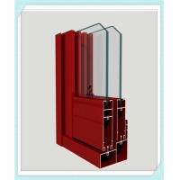Quality Lightweight Window Aluminum Profile Corrosion Resistance Red Color Smooth Surface for sale