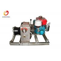 Quality 3T 5T Engine Powered Diesel Cable Winch Sagging Operation In Line Construction for sale