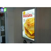China Hanging Poster Snap Frame Light Box High Brightness 3D Laser Engraving on sale