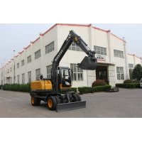 Buy cheap CE/ISO Agriculture Construction Mini Wheel Hydraulic Excavator With Closed Cabin from wholesalers