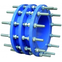 Buy cheap DN50 2.5Mpa NBR DIN Ductile Iron Pipe Dismantling Joint Stepped Coupling from wholesalers