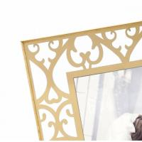 Quality Desktop Stand Personalised Glass Picture Frames Contemporary Gold Design for sale