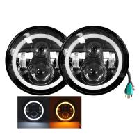 Buy cheap Durable 7 Inch Headlight Duranble Polycarbonate Lens Material Angle Eyes from wholesalers