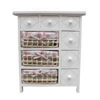 China wood storage cabinet with willow drawers on sale