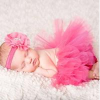 Best Pink Customized Newborn Tutu Vinyl Baby Photography Props with Headbands wholesale