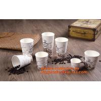 China Food use disposable plastic paper cup and coffee lids, pla cups,biodegradable paper cups with lids,100% compostable pape on sale