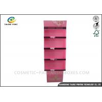 Quality Cosmetic POP Cardboard Display Stands Floorstanding For Skincare Products for sale