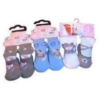 China OEM lovely Kids Terry Loop Socks with Jacquard / Embroidery / Woven label on sale