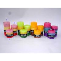 China coloured scented pillar candle on sale
