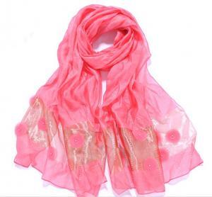 China 70x200cm fancy lady silk scarf on sale