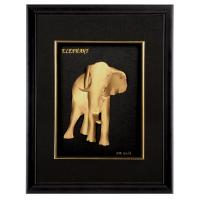 Best Art Handcrafted Gold Foil Elephants Crafts for office decoration wholesale