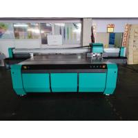 Best 2500*1300mm UV Flatbed Printer with Double DX7 heads for rigid flat material like glass,ceramics,PVC board,wood,metal wholesale
