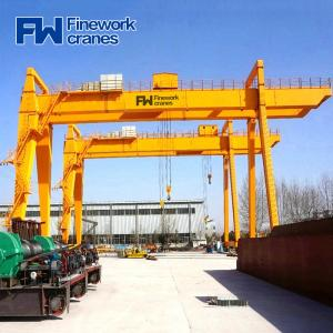 Quality 20ton 80ton Double Girder Gantry Crane With Lifiting Trolley for sale