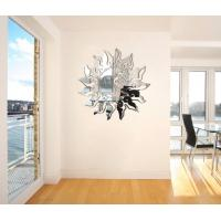 Quality Sun Shaped Wall Mirror Sticker Acrylic To Clear Wall Paper for sale