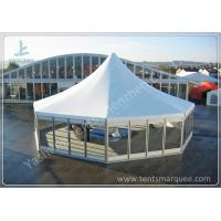 Quality Octagonal Outdoor canopy gazebo tent Transparent Glass Wall and Door 3m Side Length for sale