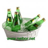 Quality Round galvanized metal beverage tub with handles soda cooler beverage cooler for sale