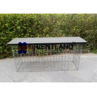 Quality 50×100mm Decorative Gabion Garden Bench for sale