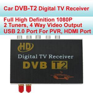 Quality 120 - 150 km/h Speed  DVB-T2 Car Digital TV Receiver , Digital TV Tuner For Car Stereo for sale