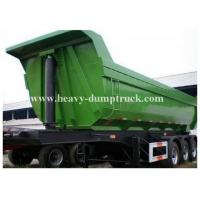 Buy High strength steel Hydraulic Rear End Dump Semi Bed Trailer with U shaped Tipping Trailer at wholesale prices
