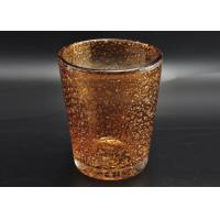 China 316ml Hand Made Color Sprayed Glass Votive Candle Holder with Bubble Effect on sale