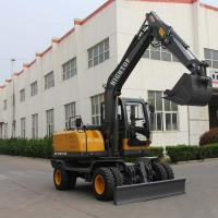 Quality Chinese  Hydraulic Digger 8.5t Mini Excavator Small Crawler Digger For Sale for sale