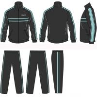 China Women Volleball Children - Adult Silk Screen Printing Polyester Tracksuits Sportswear on sale