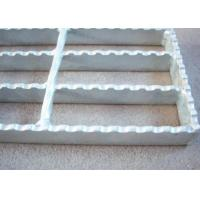Quality 40 X 5 Serrated Bar Grating, Metal Building Hot Dipped Galvanised Steel Grate for sale