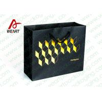 Best Golden Hot Stamping Wedding Paper Gift Bags With Ribbon Handles wholesale