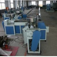 Quality Flexible Plastic Tubing Extrusion Machines , 75Kw Plastic Pipe Manufacturing Machine for sale