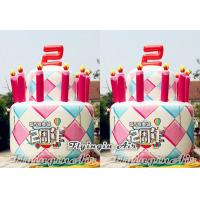 China Advertising Inflatable Birthday Cake Model for Shop Celebrations on sale