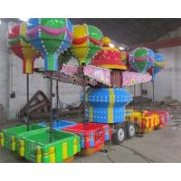 Quality 32 Seats Trailer Mounted Rides With Colorful Balloons And Beautiful Cabins for sale