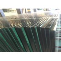China Clear Tempered Safety Glass 3mm - 19mm Toughened Glass For Partition Wall on sale