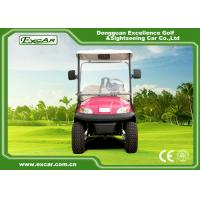 Quality Pink Open Cargo Trojan Battery Electric Golf Vehicle Curtis Controller 3700W for sale