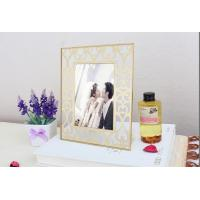Quality Corrosion Resistance Brass And Glass Picture Frame Modern Design Lightweight for sale