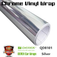 Quality Chrome Mirror Car Wrapping Vinyl Film 3 layers - Chrome Silver for sale