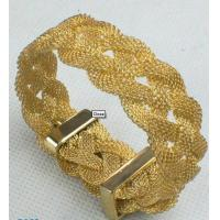 Best Durable Fashion Gold color metal bangles with gemstones 6cm-8cm wholesale