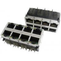 China 2x6 Multi-port Modular Jack RJ45 with transformer, shielded with EMI fingers, built-in LED on sale