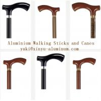 China Wooden Grain Transfer Printing Aluminium Round Tube for Walking Sticks / Canes on sale