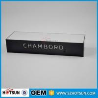Quality Table counter acrylic led stand wine display with led base for sale