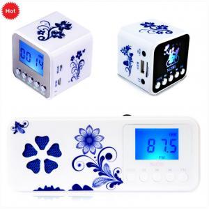 Quality Multifunction Retro mini FM clock radio with micro sd card for sale