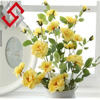 Quality China Rose Home Decoration Floral Artificial Silk Flower for sale