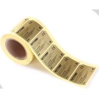 Quality Gold Color UV Ink Roll Marked Label Stickers printing service for sale